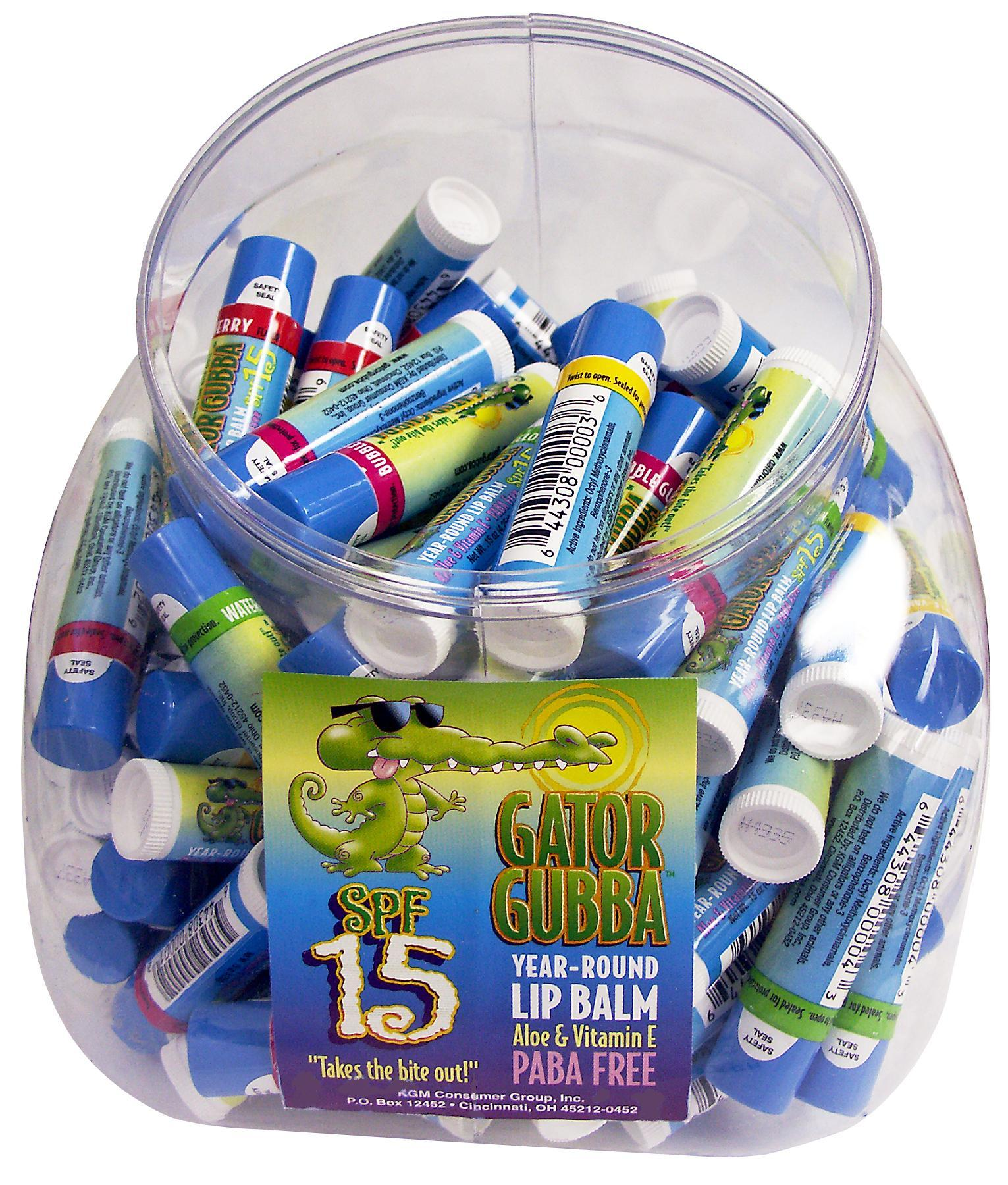 Gator Gubba SPF 15 100 ct Fishbowl - Click Image to Close